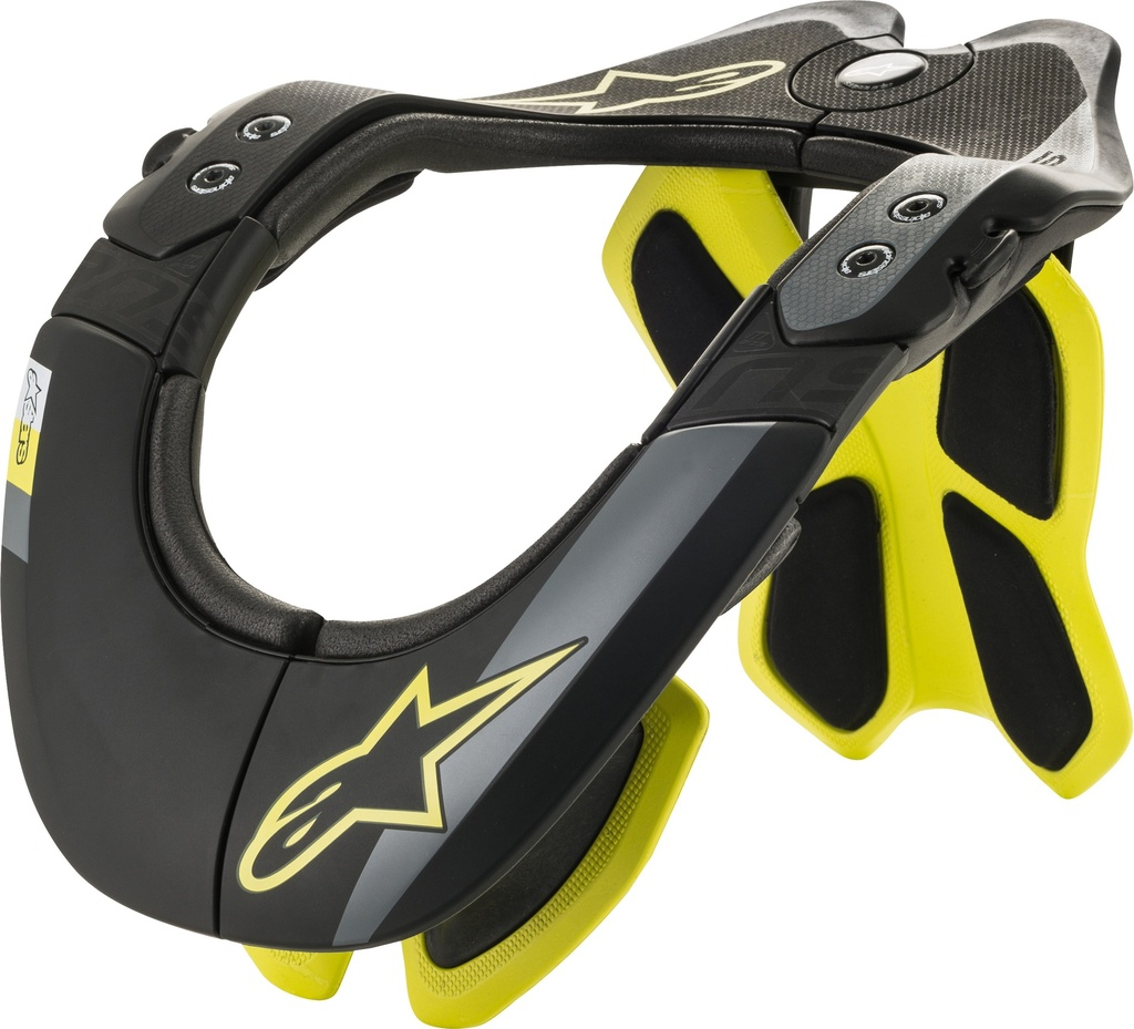 BNS TECH 2 NECK SUPPORT/BLACK YELLOW FLUO