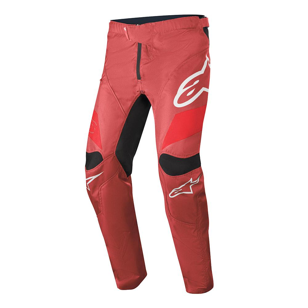 RACER PANTS/BURGUNDY BRIGHT RED WHITE